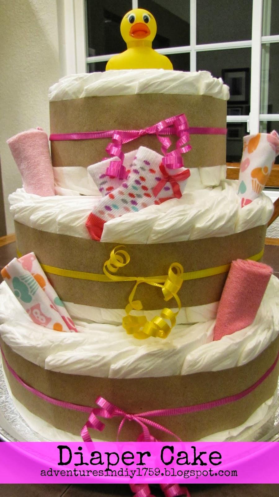 DIY Baby Shower Cakes  Adventures in DIY Baby Shower Diaper Cake