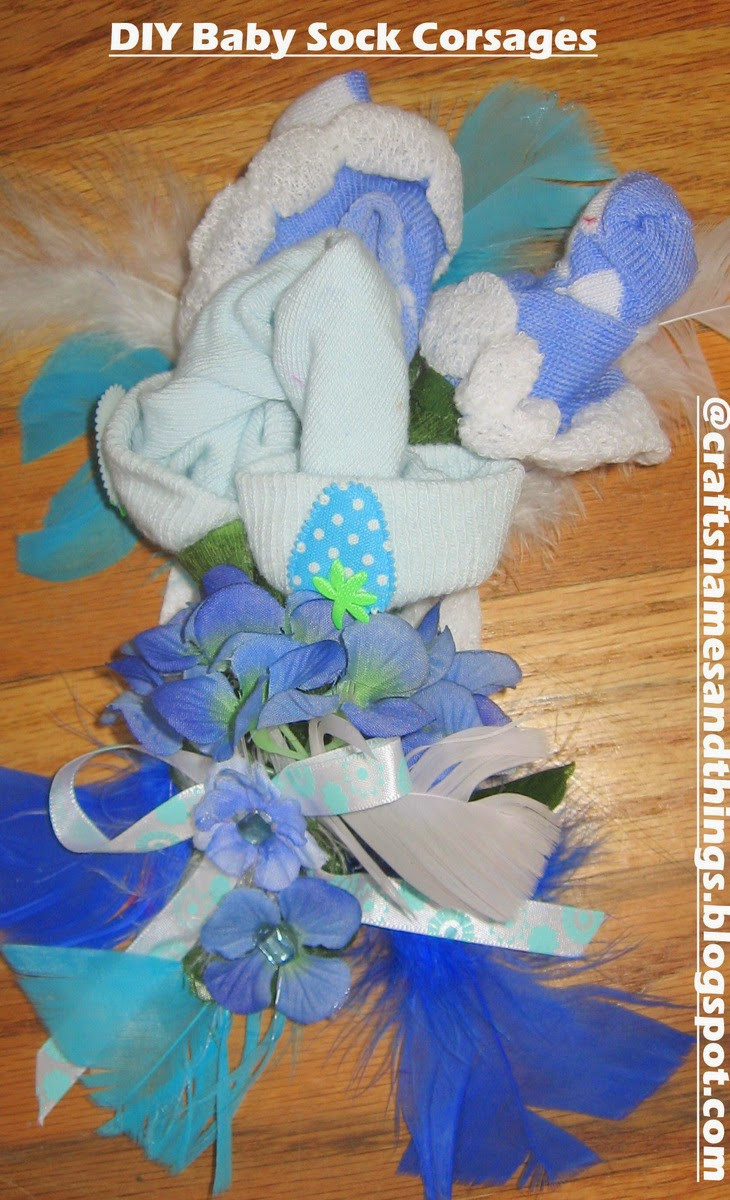DIY Baby Shower Corsages  Crafts Names And Things DIY Baby Shower Gifts DIY