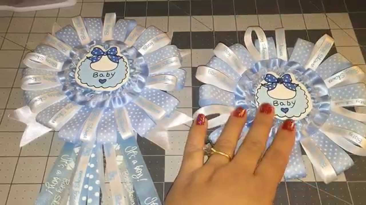 DIY Baby Shower Corsages  Blue Baby Shower Corsage DIY Do it Yourself