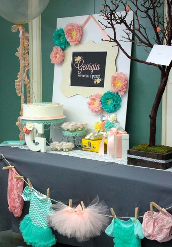 DIY Baby Shower Decorations For Girls  22 Cute & Low Cost DIY Decorating Ideas for Baby Shower Party