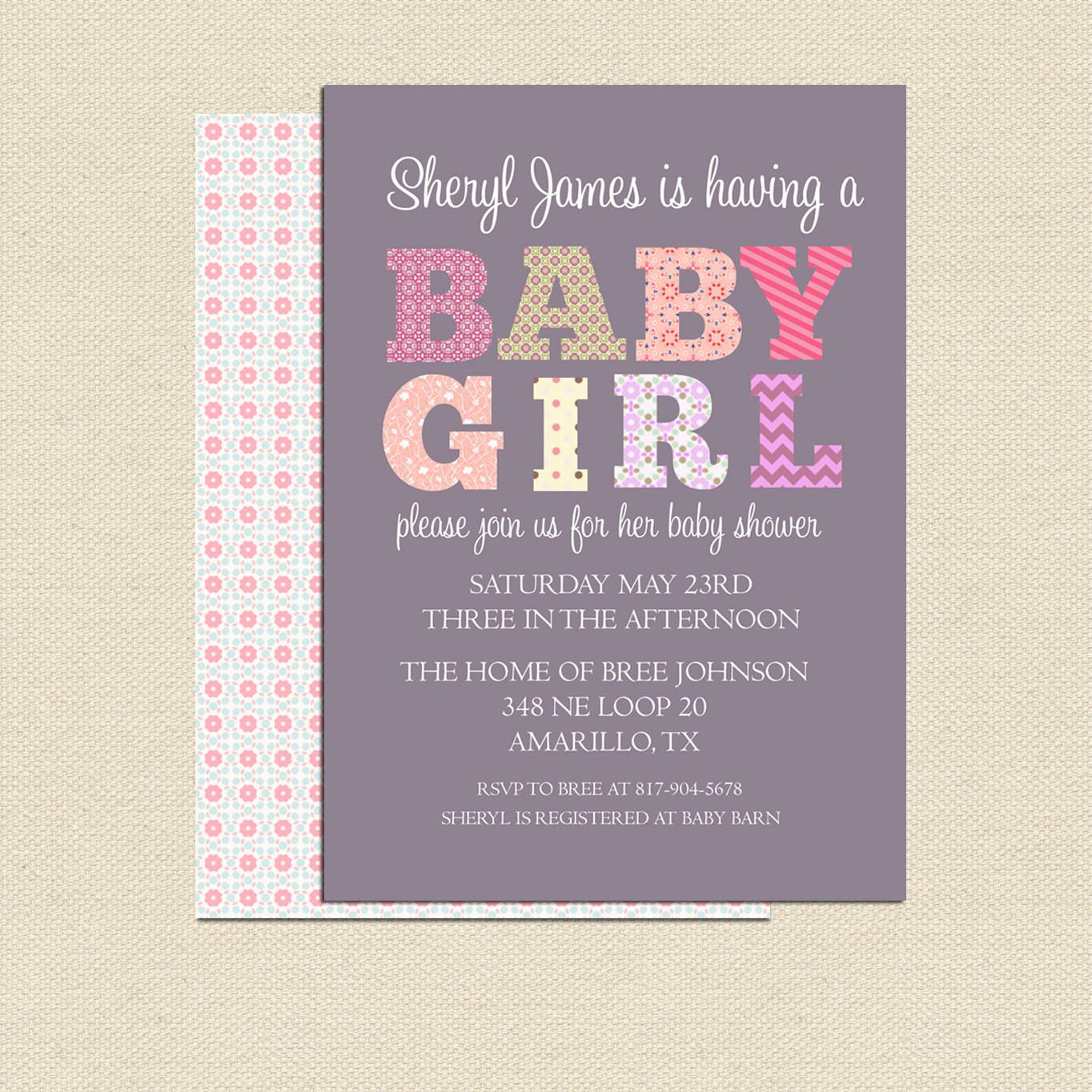 DIY Baby Shower Invitations Free  DIY Printable Baby Shower Invitation For Girl No 2