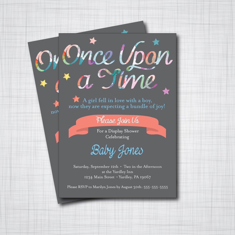 DIY Baby Shower Invitations Free  Storybook Baby Shower Invitation DIY PRINTABLE