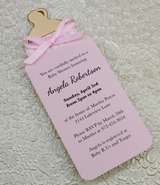 DIY Baby Shower Invites  25 best ideas about Baby Shower Invitations on Pinterest