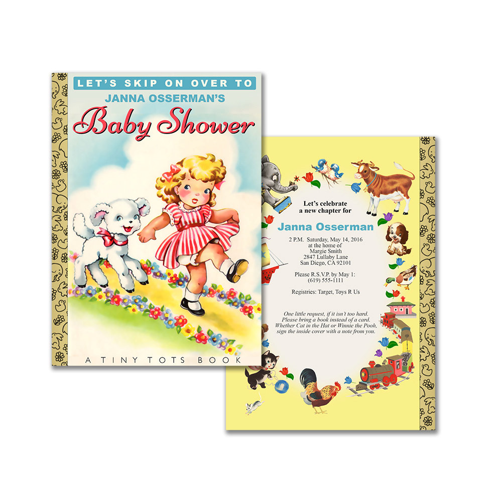 DIY Baby Shower Invites  Storybook baby shower invitation DIY printable invitation