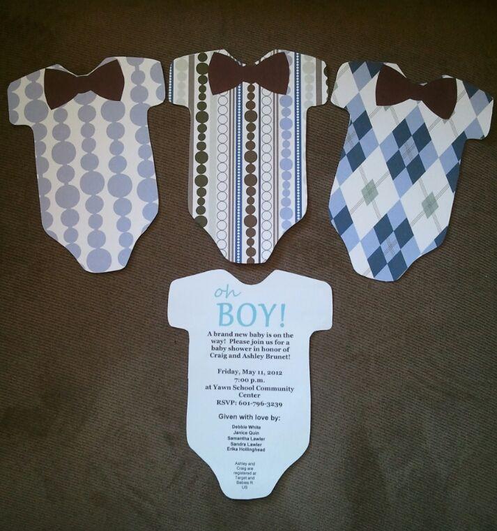DIY Baby Shower Invites  Baby shower invitations DIY Baby blue Pinterest
