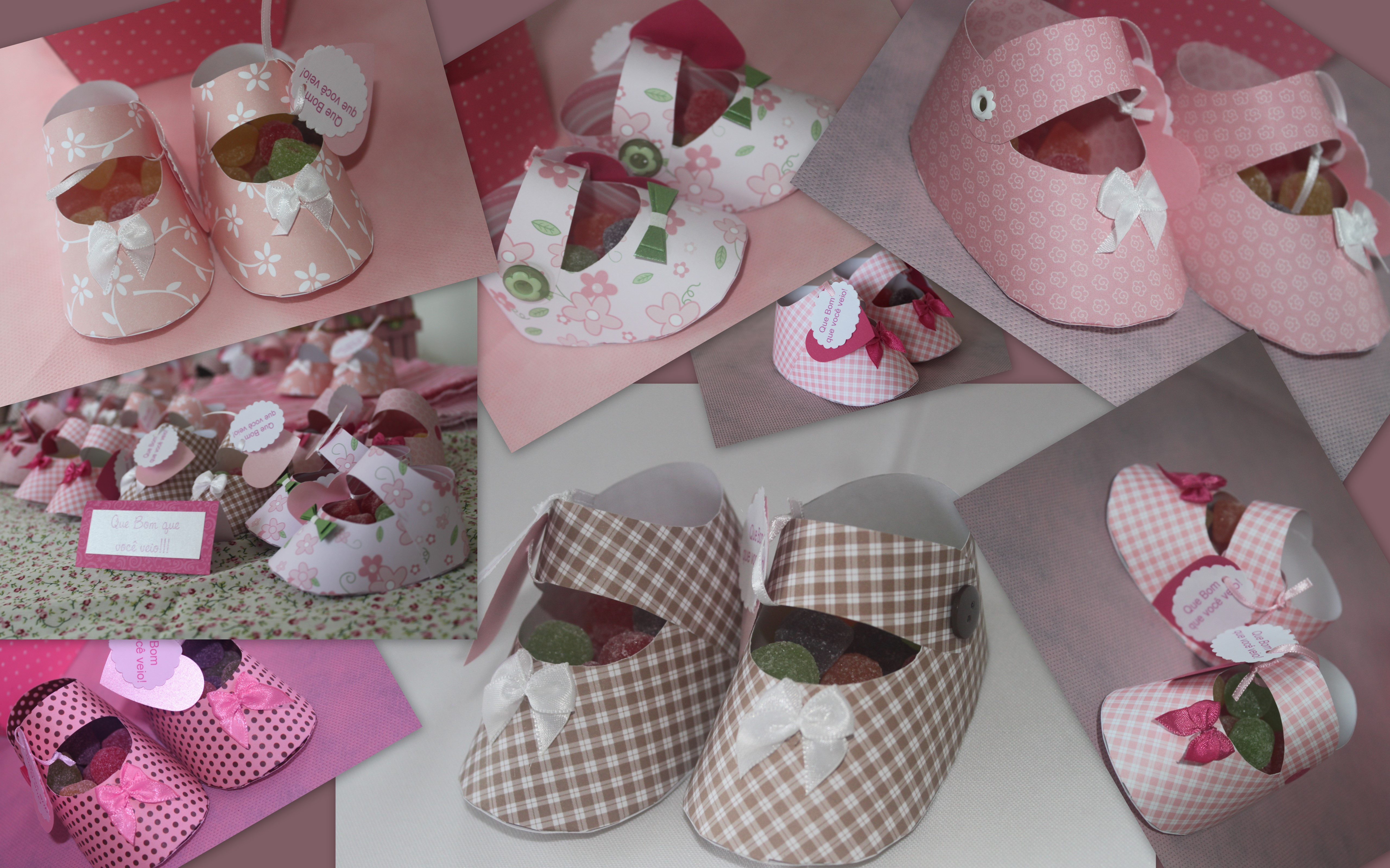 DIY Baby Shower Party Favors  Tutorial Free Download Baby Shoes Favors