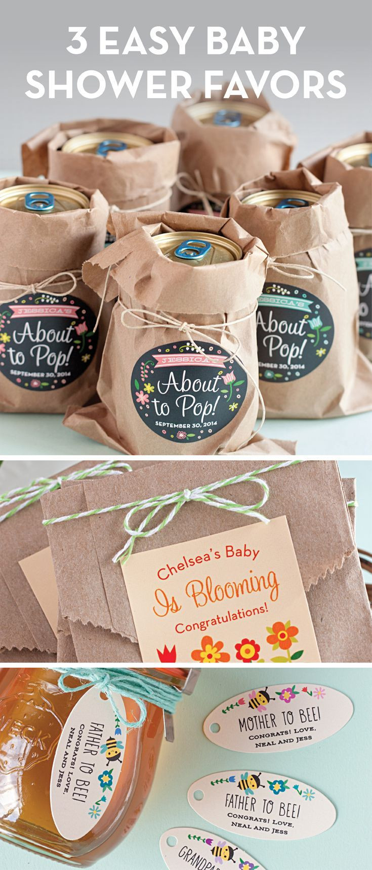 DIY Baby Shower Party Favors  99 best Showers images on Pinterest
