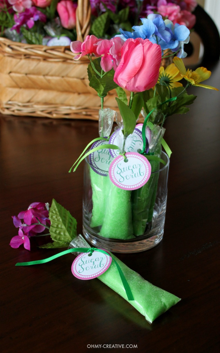 DIY Baby Shower Party Favors  Homemade Sugar Scrub Shower Favors Oh My Creative