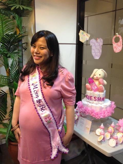 DIY Baby Shower Sash  myfashionetsetera My Homemade Diaper Cake and Baby Shower
