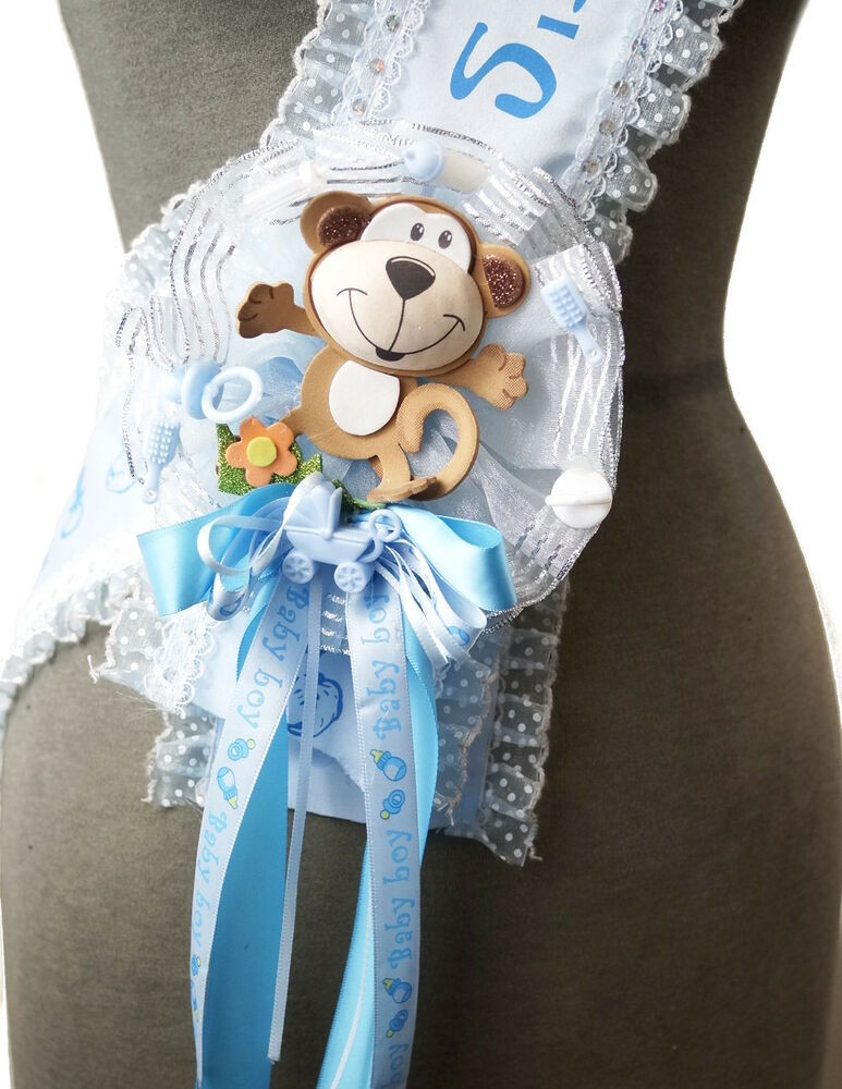 DIY Baby Shower Sash  Baby Shower Pin Corsage Maternity Sash for Mom To Be It