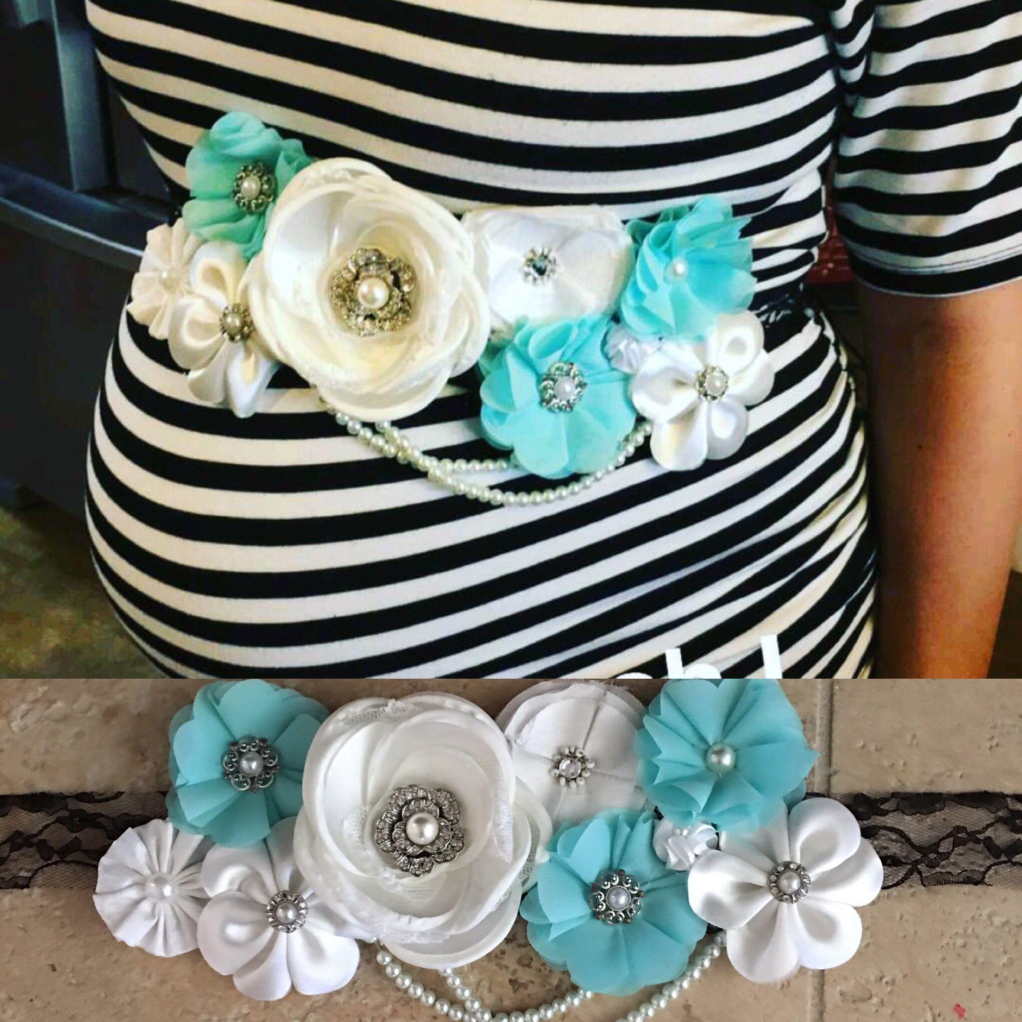 DIY Baby Shower Sash  Baby shower belly sash DIY Baby Shower Ideas