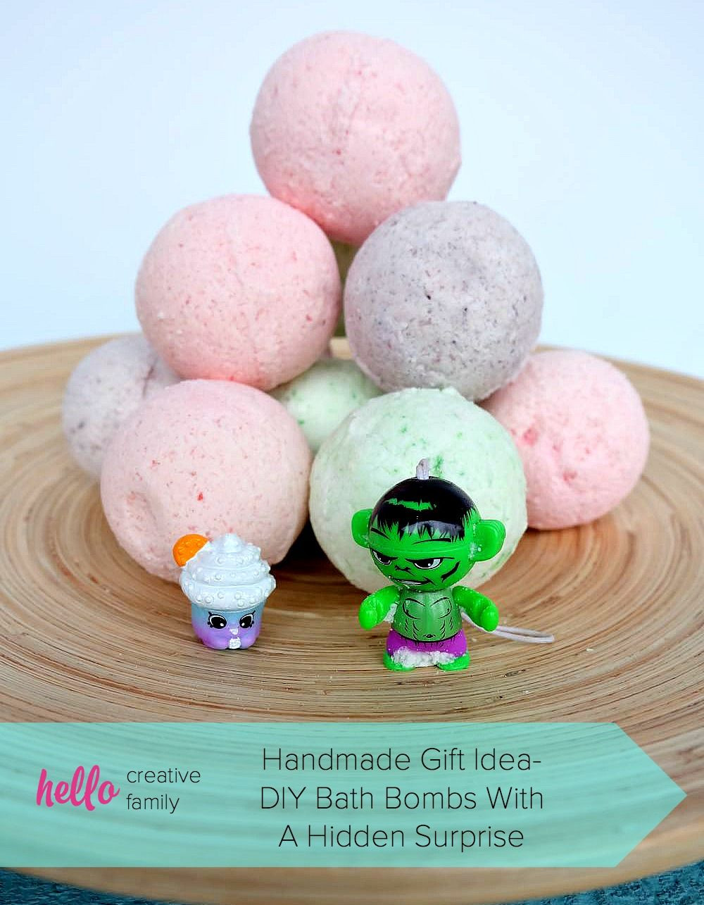 DIY Bath Bombs For Kids  How To Make DIY Bath Bombs With A Toy Hidden Inside