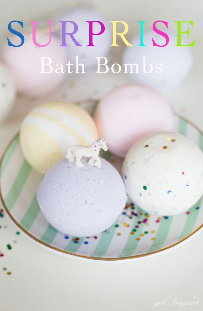 DIY Bath Bombs For Kids  Surprise DIY Bath Bombs girl Inspired