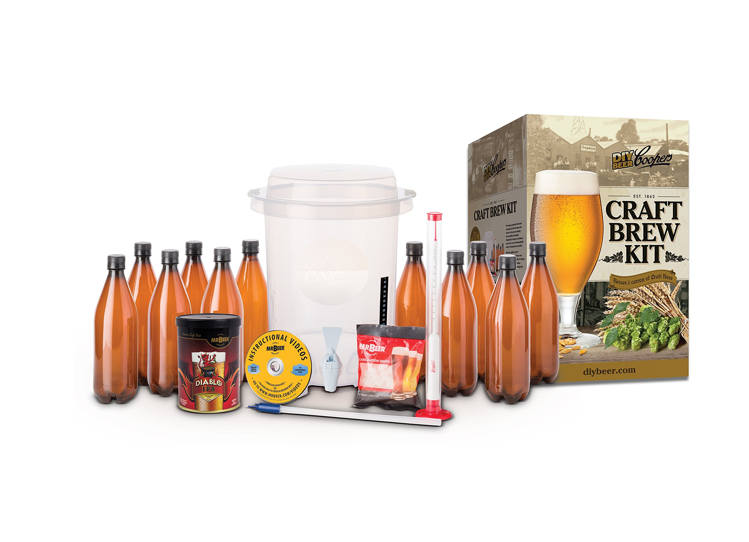 DIY Beer Kit  Coopers DIY Home Brewing Craft Beer Kit 2 Gallon 2 Gallon Kit