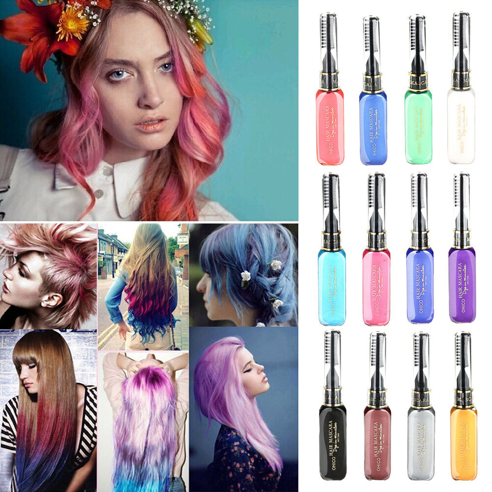 DIY Black Hair Dye  1PC set Hair Dye Color Easy Temporary Non toxic DIY Hair
