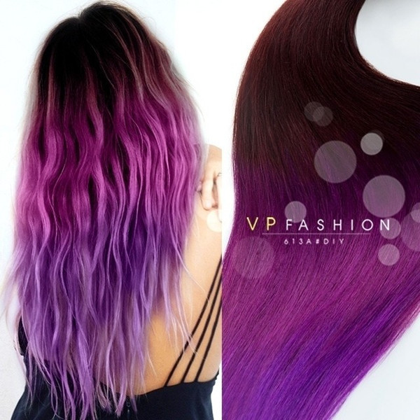 DIY Black Hair Dye  Purple ombre for dark hair DIY 2015 summer your personal