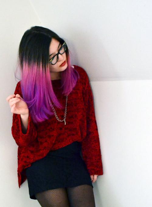 DIY Black Hair Dye  DIY Temporary dip dye hair