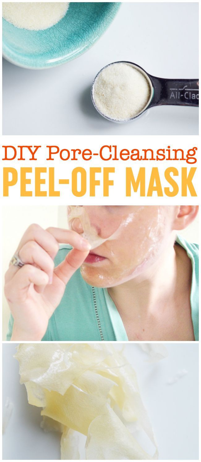 DIY Blackhead Mask  DIY Peel f Mask Pore Cleansing Blackhead Busting Face