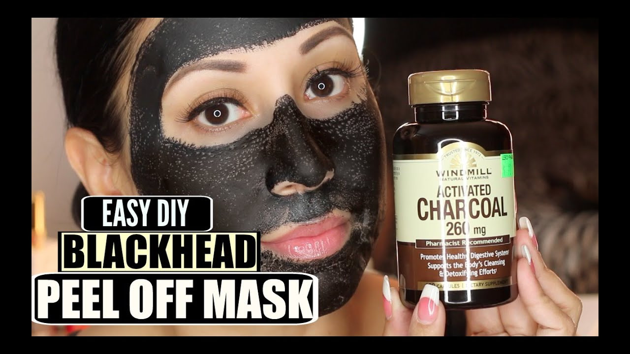DIY Blackhead Mask  Easy DIY Blackhead Remover Peel f Mask Peeling off