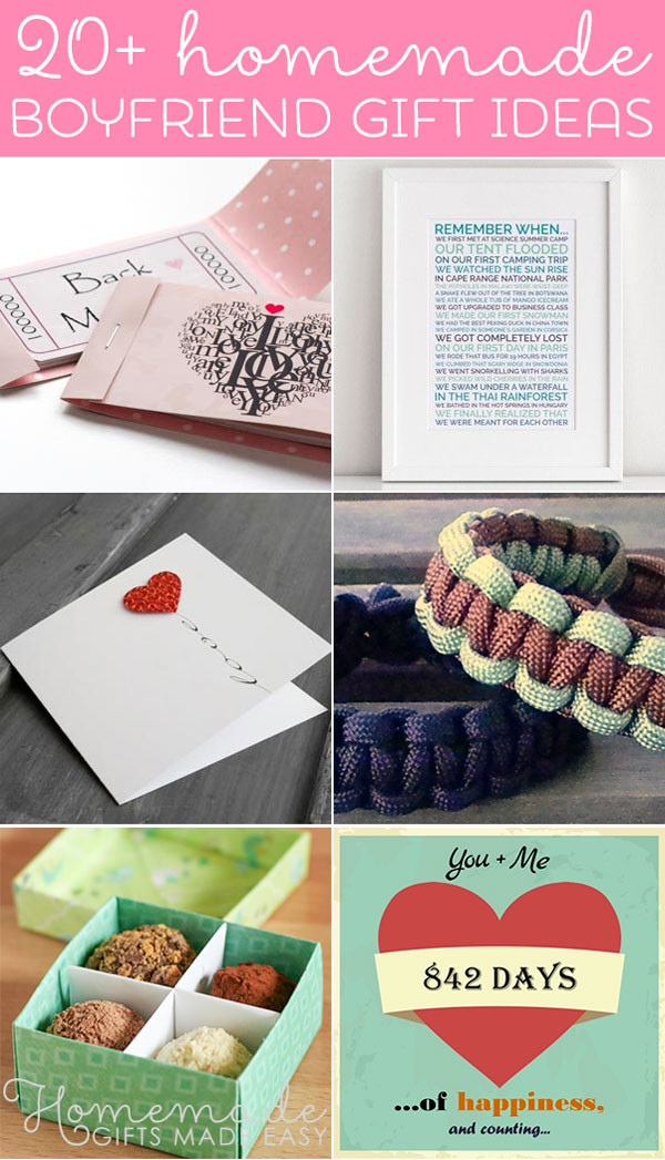 Diy Boyfriend Gift Ideas  Best Homemade Boyfriend Gift Ideas Romantic Cute and