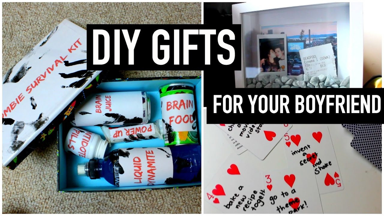 Diy Boyfriend Gift Ideas  DIY Gifts for your boyfriend partner husband etc Last