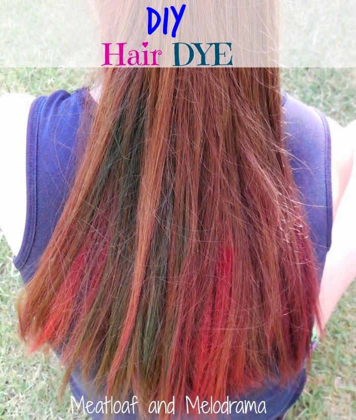 DIY Brown Hair Dye  DIY Temporary Hair Dye Meatloaf and Melodrama
