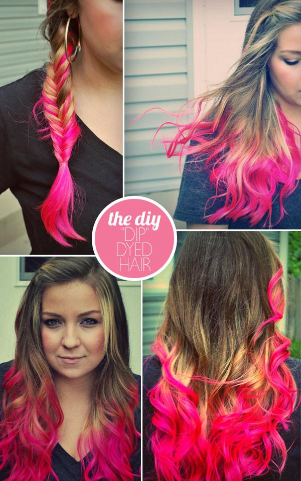 """DIY Brown Hair Dye  the DIY """"DIP"""" DYED HAIR UPDATED"""
