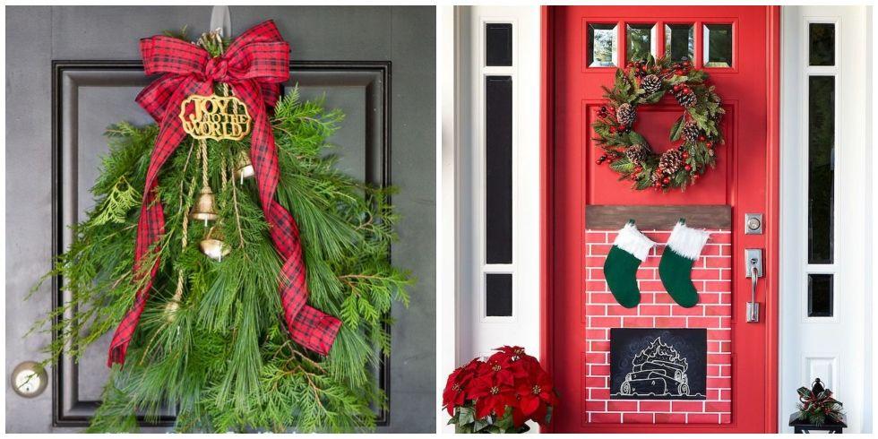 DIY Christmas Door Decoration  18 DIY Christmas Door Decorations Holiday Door