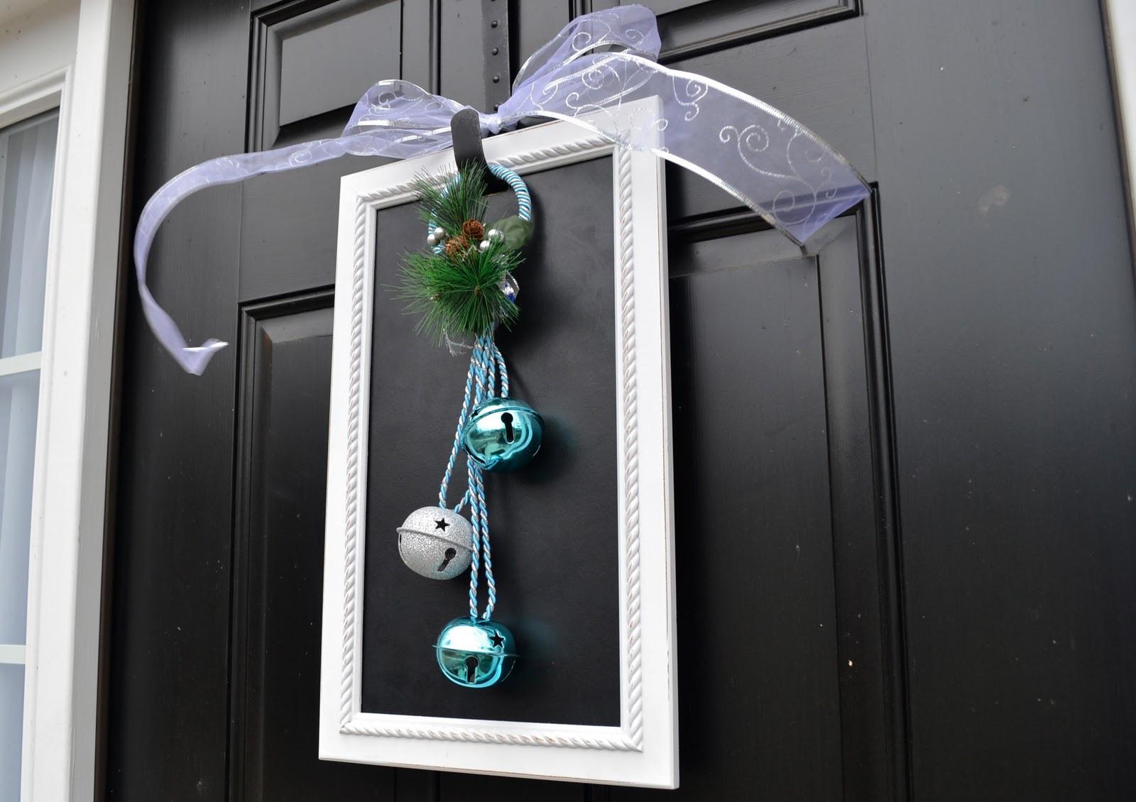 DIY Christmas Door Decoration  A Vegas Girl at Heart Christmas DIY Door Decoration