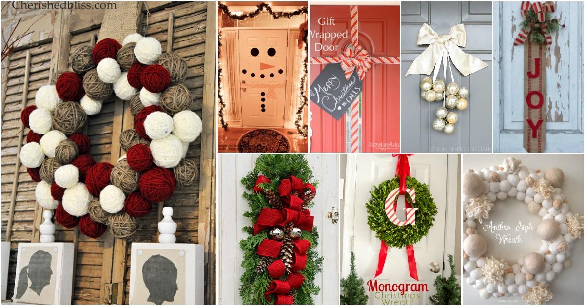 DIY Christmas Door Decoration  20 DIY Christmas Door Decorations To Make Your Home