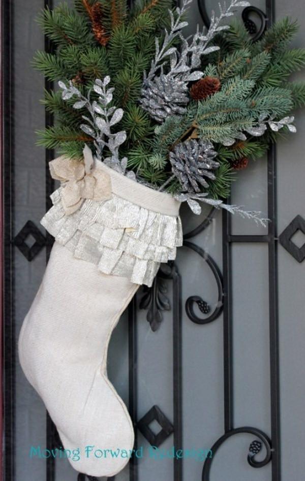 DIY Christmas Door Decoration  20 Creative DIY Christmas Door Decoration Ideas Noted List