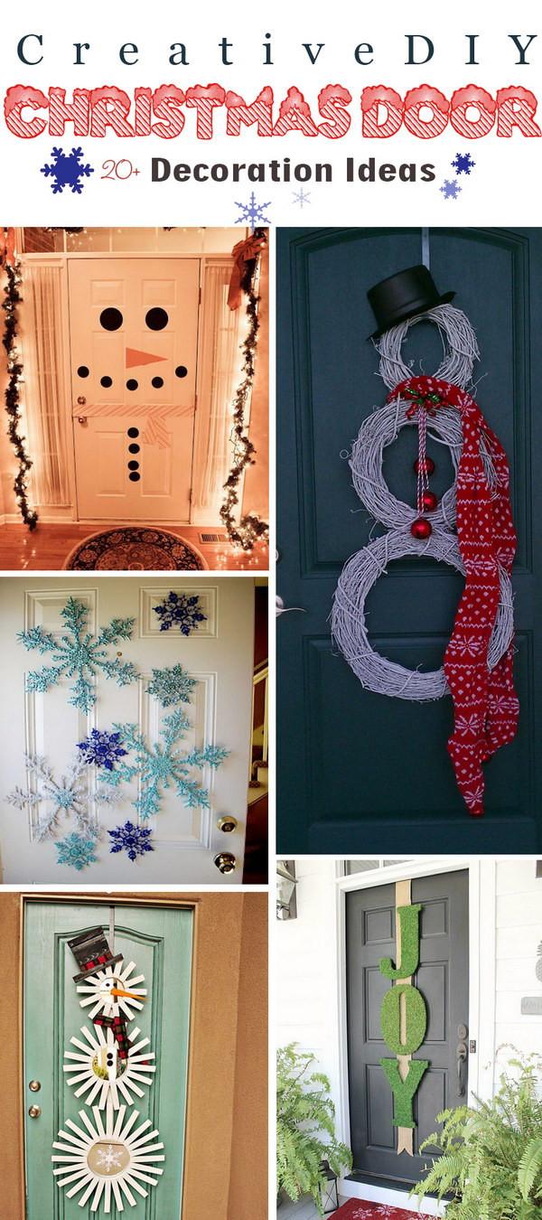 DIY Christmas Door Decoration  20 Creative DIY Christmas Door Decoration Ideas