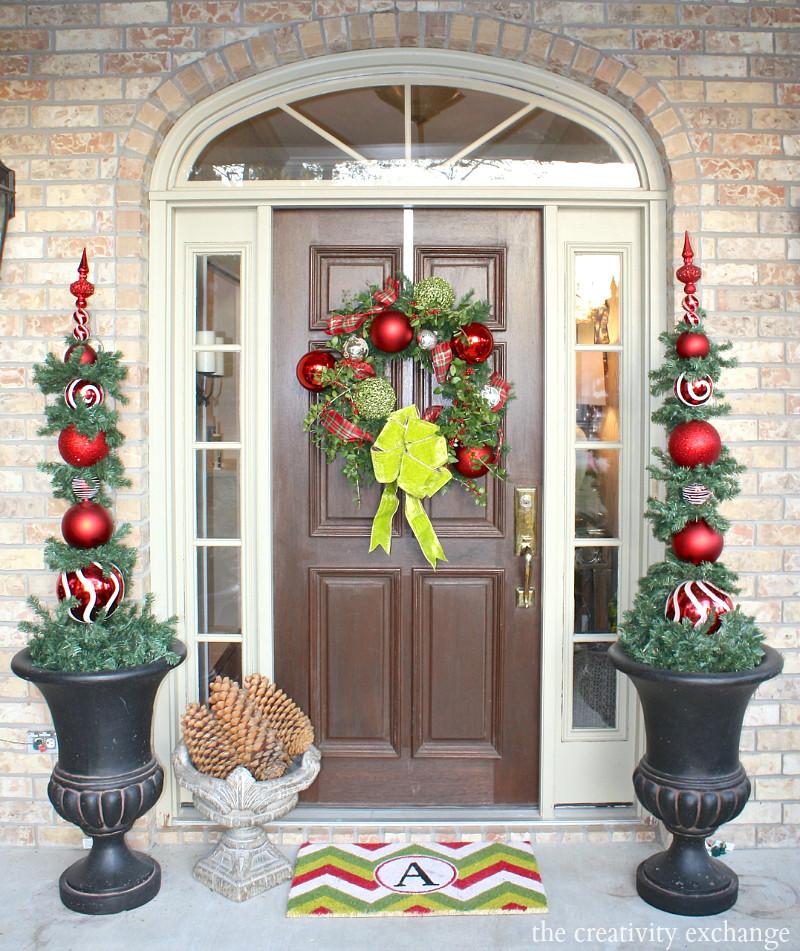 DIY Christmas Door Decoration  Our Christmas Home Tour