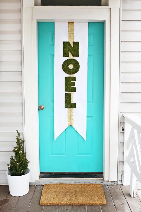 DIY Christmas Door Decoration  DIY Door Decoration For Christmas Cathy