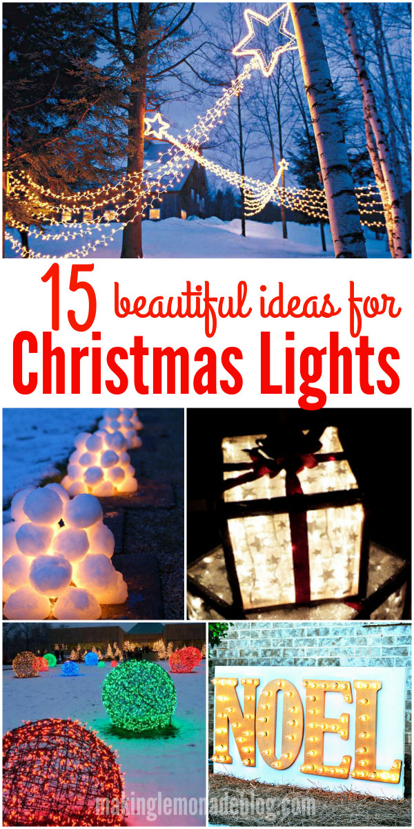 DIY Christmas Light Ideas  15 Beautiful Christmas Outdoor Lighting DIY Ideas