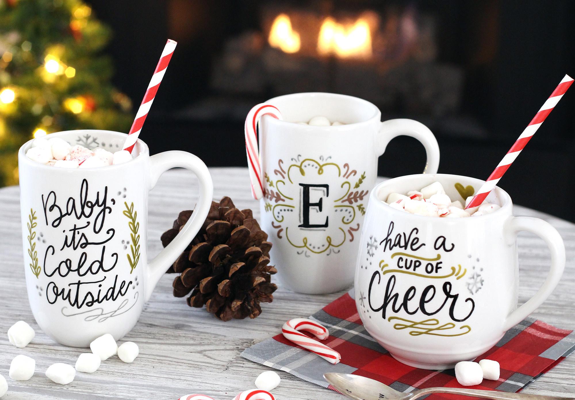 DIY Christmas Mug  DIY Mug Gifts Using PaintedByMe Bake At Home Ceramics