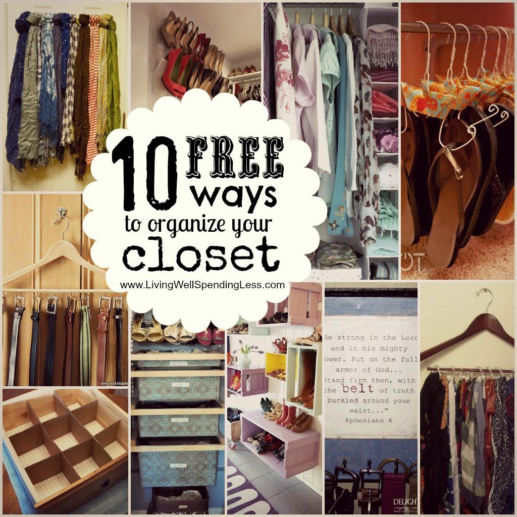 DIY Closet Organizer Ideas  Closets How To Organize A Small Closet Design Ideas