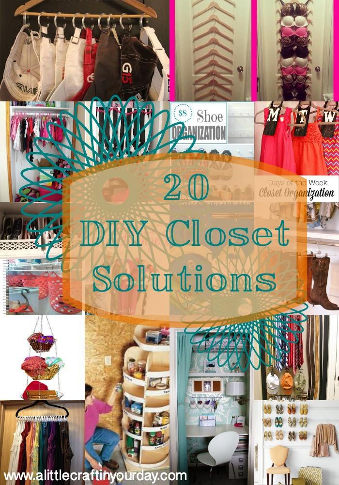 DIY Closet Organizer Ideas  20 DIY Closet Solutions A Little Craft In Your Day