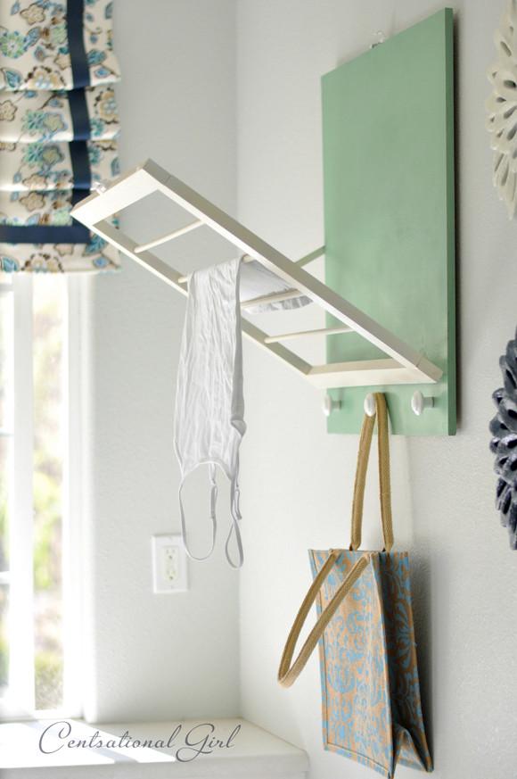 DIY Clothes Drying Rack  DIY Laundry Room Drying Rack