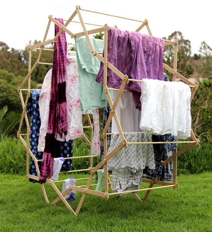 DIY Clothes Drying Rack  Make a Star Shaped Clothes Drying Rack