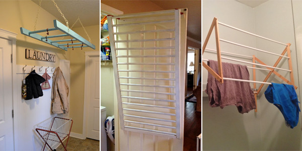 DIY Clothes Drying Rack  10 DIY Laundry Drying Racks For Small Spaces
