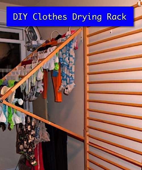 DIY Clothes Drying Rack  DIY Clothesline Project