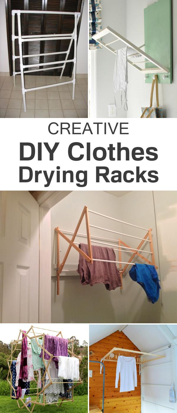 DIY Clothes Drying Rack  Creative DIY Clothes Drying Racks