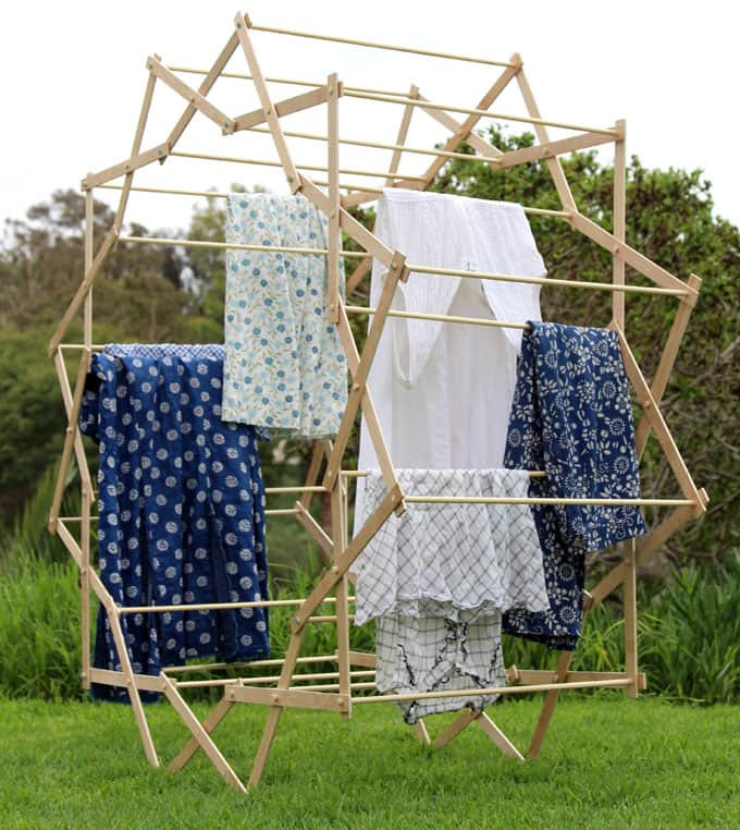 DIY Clothes Drying Rack  DIY Star Shaped Clothes Drying Rack A Piece Rainbow