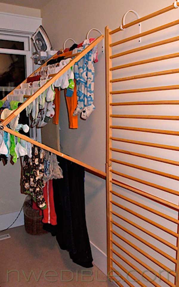 DIY Clothes Drying Rack  Top 30 Fabulous Ideas To Repurpose Old Cribs