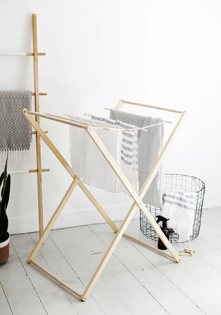 DIY Clothes Drying Rack  Modern Laundry Drying Rack DIY