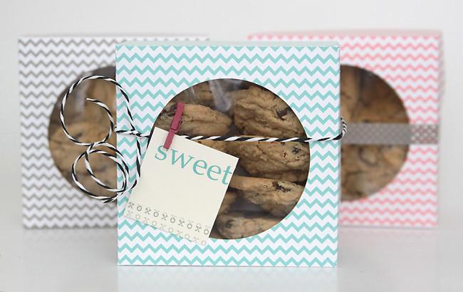 DIY Cookies Box  easy DIY folded paper cookie & treat t box tutorial