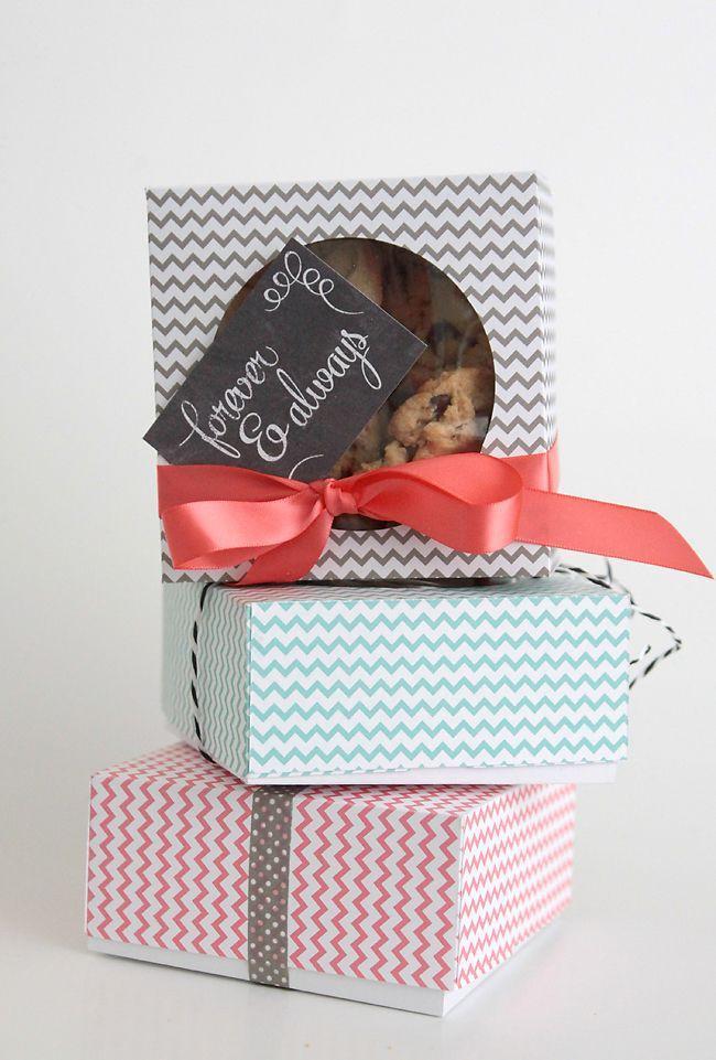 DIY Cookies Box  Easy DIY Folded Paper Cookie & Treat Gift Box Tutorial