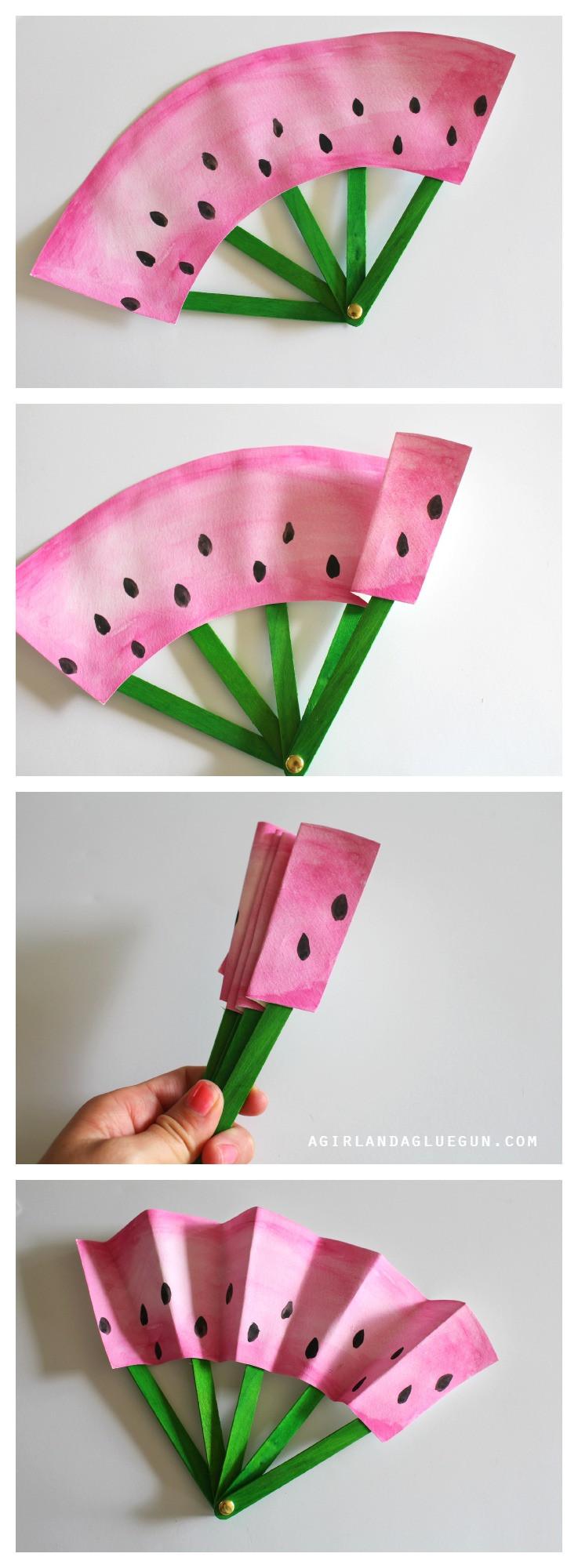 DIY Crafts For Kids  DIY Fruit Fans Kids Craft The Idea Room