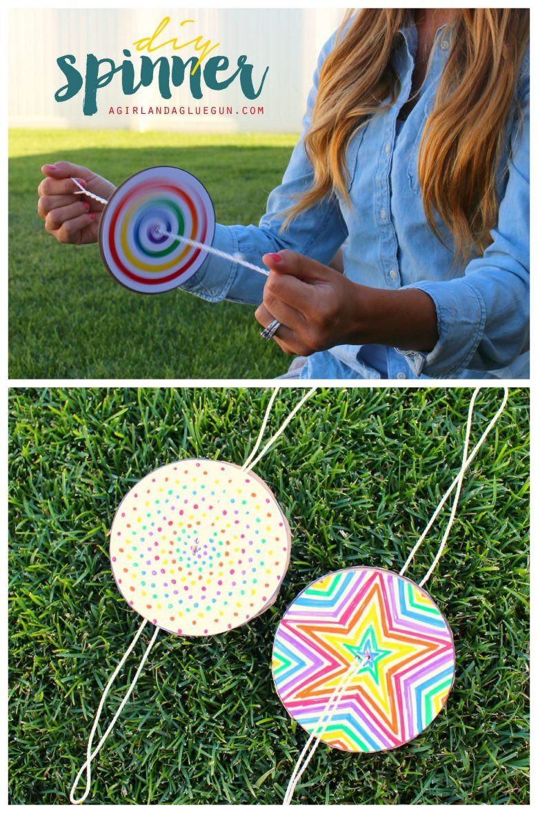 DIY Crafts For Kids  DIY Paper Spinner for Endless Fun